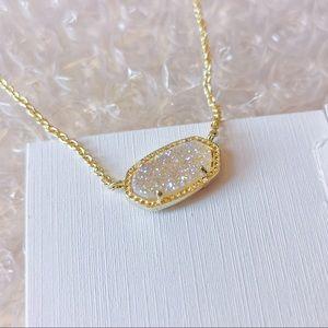 Kendra Scott Elisa drusy pendant gold necklace